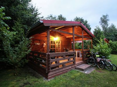 Photo for Attractive, wooden chalet situated in a friendly holiday park set in beautiful surroundings