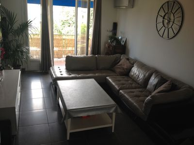 Photo for spacious air-conditioned apartment 10 minutes from the sea