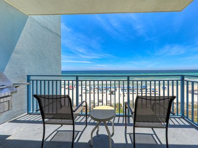 Photo for Beach view condo w/ shared pool and hot tub, walk to Pier Park!