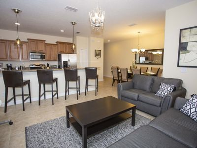 Photo for Modern Bargains - Paradise Palms Resort - Amazing Cozy 4 Beds 3 Baths Townhome - 4 Miles To Disney
