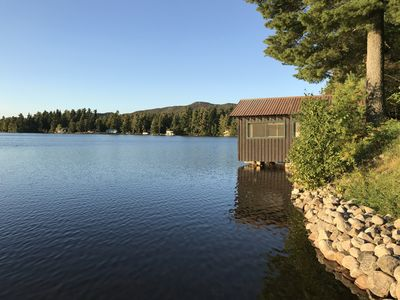 view of our boathouse (taken from our dock)