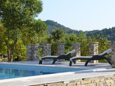 Photo for Holiday House Villa Brbon with outdoor pool, covered terrace, private location