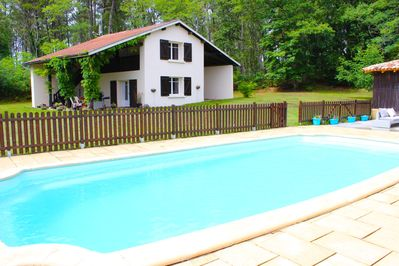 View of gite from pool area