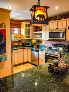 Fabulous chef's kitchen equipped with Bosch stainless steel appliances