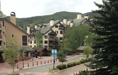 View of Beaver Creek Village and Mountains from the deck