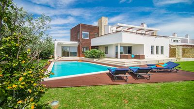 Photo for Stylish and Contemporary Villa with Private Pool, Sea View, close to Beach Resorts and Pula!
