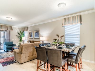 With our open floor plan, the dining room is directly adjacent to the kitchen.