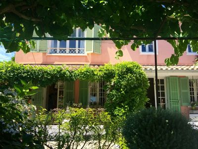 Photo for Saint Tropez charming and provencal villa with sea view and heated swimming pool