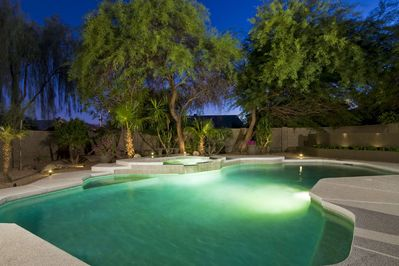 Pool w Spa - Huge Pebble Tec pool with spa and Aqualink Automation System