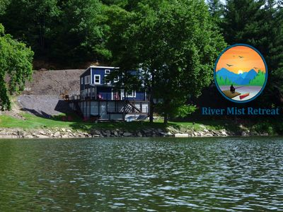 Photo for River Mist Retreat on the New River w/dock-40 private acres-Near N.R. Trail-WIFI