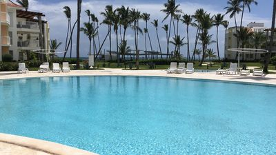 Photo for Delightful Punta Cana Turquesa Beachfront 3 BR 1st Floor Apt w/Patio