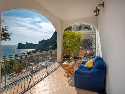 Photo for Marianne Apartment with private sea-view terrace