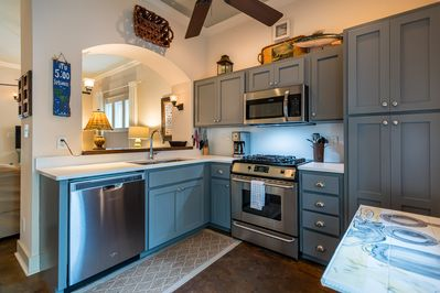 Full-Size Kitchen with Stainless Steel Appliances