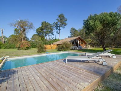 Photo for Between Pines and Ocean-Charming secluded sheepfold - SWIMMING POOL - WIFI- ESCOURCE