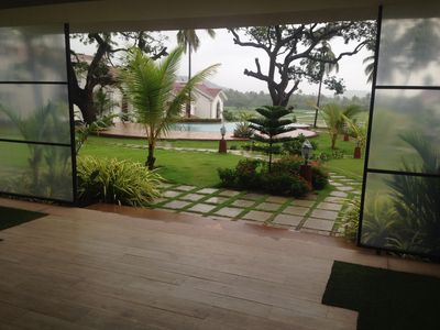 Photo for Beautiful two bedroom Villa, Sleeps 4-6 in Serene Riviera Sapphire, Siolim, Goa