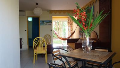 Photo for KAYDANY F2 air-conditioned / wifi in residence with swimming pool near the beaches of Ste Anne