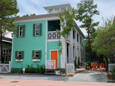Photo for Renovated in Seaside w/Tower, Many Porches, & Lighted Outdoor Area- Sleeps 12