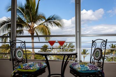 Private balcony on This higher floor apartment has one of the best ocean views
