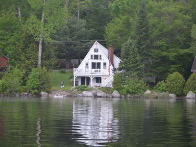 Photo for Quaint Year Round Aframe On A Beautiful Lake In Maine!