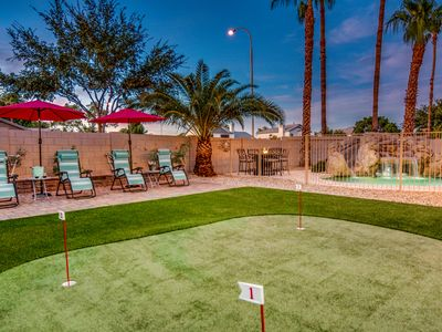 Photo for Chandler Luxury Vacation Home-Heated Pool, Water Slide, Putting Green &Game Room