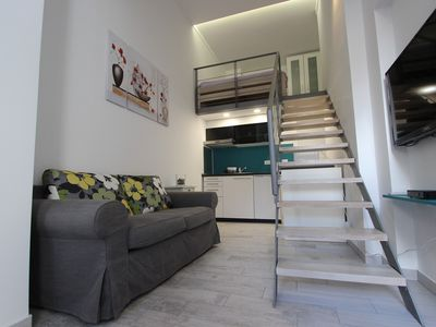 Photo for Little Italy duplex ground floor apartment 1 min from dynamic Giardini vibrant area in center of Pula