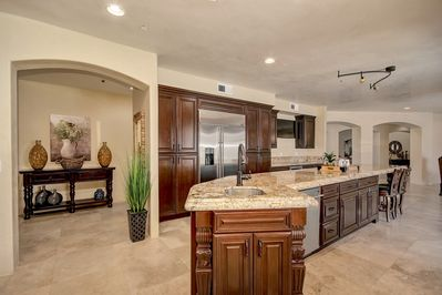 Kitchen with Full Island and Granite Countertops
