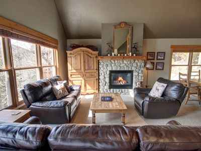 Photo for Cabin in the Pines 4 Private Laundry and garage, shared hot tub, Extra loft, Free shuttle to the slopes- by Summitcove Lodging