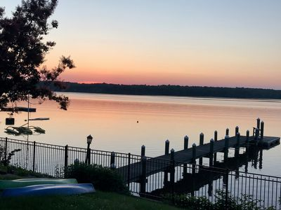 Photo for Breathtaking waterfront property with open floor plan and private dock.