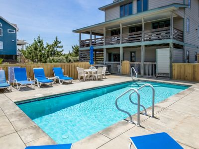 Photo for Duck Dreams | Oceanfront | Private Pool, Hot Tub, Dog Friendly
