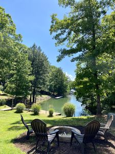 Photo for Waterfront Lake Norman Retreat with private dock, quiet cove, amazing views!