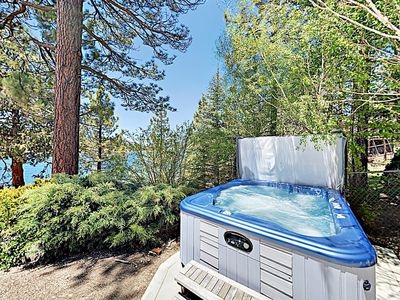 Photo for 3BR Mountain Lakefront Home on Big Bear Lake w/ Private Dock & Hot  Tub