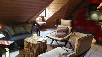 Photo for Annecy centre. Charming apartment with mountain chalet atmosphere