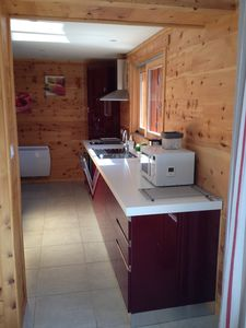 Photo for new studio entirely in wood, close to the slopes with gd balcony Puy St Pierre