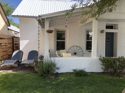 Photo for Adobe in Prime location in heart of Marfa, Steamshower, Fantastic Porch