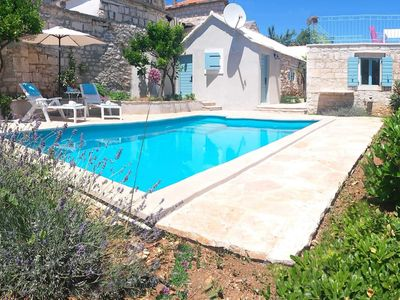 Photo for Original Dalmatian stone-house with pool