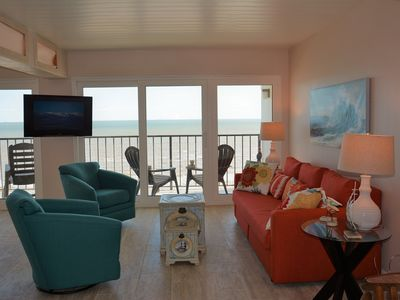 Photo for Remodeled in 2019! Beachfront View! Top-Notch 2Bdrm/2 Bath! Pool*WiFi*Beachfront