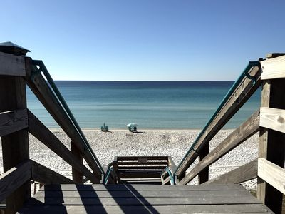 Photo for GULF FRONT POOL! Sunshine @ Sunset -South of 30A- Steps to Beach, Alys, Rosemary