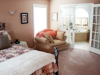 Master bedroom with Jetted Tub