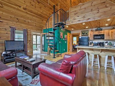 Photo for 'Trot Inn' Bryson City Cabin w/Hot Tub & Fire Pit!