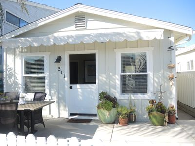 Photo for Clean Cottage for 2, Great Location! Large Patio, Cable, WiFi, Grill- VALUE!