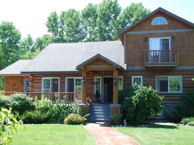 Photo for Your Family Escape: Custom log home with mountain views