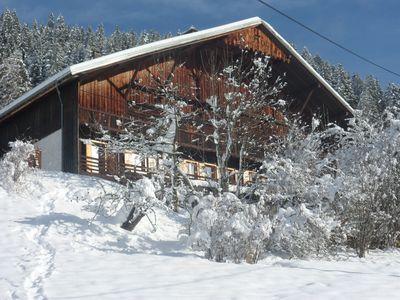 Photo for Appt in chalet, 6 people, 2 bedrooms, private terrace, south side