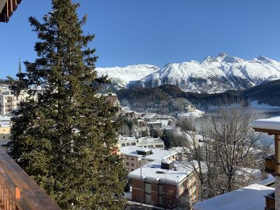 Photo for Ski-in apartment with a wonderful view of St. Moritz