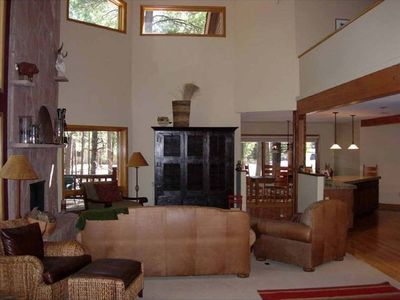 Warm and inviting living room area