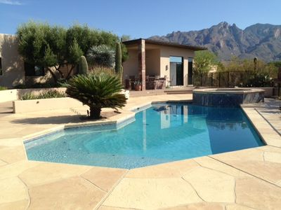 Pool area with Catalina mountains in the background