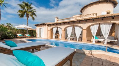 Photo for Villa with pool, garden and chill out at 400 mt. from the beach Son Serra de Marina