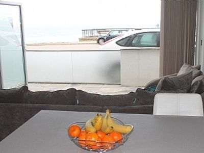 Photo for Contemporary Beachfront Ground Flr Apartment Overlooking Fistral Beach & Terrace