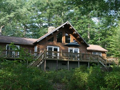 Photo for Private Island Oasis On Thompson Lake Perfect For Getaways Or Family Vacations!