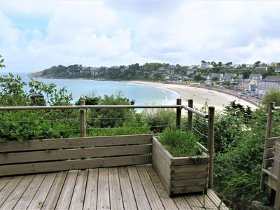 Photo for Apartment with BEAUTIFUL SEA VIEW overlooking the Trestraou Bay in PERROS-GUIREC