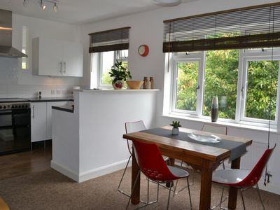 Photo for Light and spacious apartment in Falmouth town, with car parking and wifi
